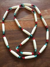 Genuine Native american indian beaded necklace, handmade, various colours