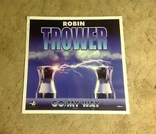 rare Cd lp Robin Trower Promo Poster 24x24appx go my way vintage music .