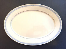 "LENOX china COURTLAND OVAL SERVING PLATTER 16"" Ivory Blue White Gold~FREE SHIP"