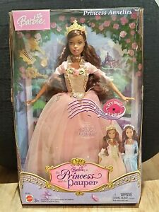 2004 BARBIE Anneliese The Princess And The Pauper Doll African American Sparkly
