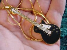 (M310-D) Black white red or gold GIBSON LES PAUL Guitar PENDANT Necklace JEWELRY