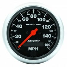 "Auto Meter 3988 3-3/8"" Sport-Comp Electric Speedometer, 0-160 MPH"