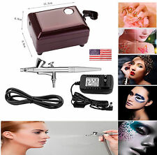 SP16 Beauty Makeup Special Air Brush Compressor Airbrush 0.4mm Needle Art Kit US
