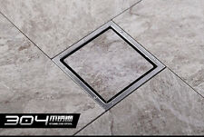 Tile Insert Square Stainless Steel Floor Drain Shower Waste Grate 110mmx110mm