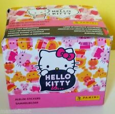 PANINI BONJOUR KITTY EST ET' BOX 50 paquets aida DISPLAY lot autocollants