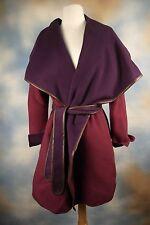 NEW $795 Vince Drape Coat Jacket Purple Wool Sz S  V231490724, Missing Belt