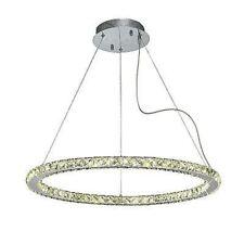 GALAXY Ciondolo rotondo grande 36 W LED 3600K cristallo/cromato lucido