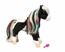 WARRIOR PRINCESS Black & White Horse by Douglas Cuddle Toy plush stuffed animal