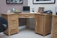 Windsor solid oak furniture office PC corner computer desk