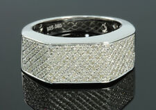 .57 CARAT MENS WHITE GOLD FINISH DIAMOND ENGAGEMENT WEDDING PINKY BAND RING