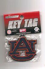 New Auburn Tigers AU Logo Rubber Laser Cut Out Key Tag Keychain