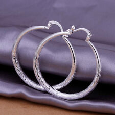 silver lady charm Fashion Round Cute Beautiful Earring Jewelry wedding party 925