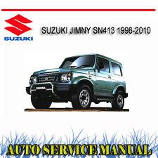 SUZUKI JIMNY SN413 1998-2010 SERVICE REPAIR MANUAL ~ DVD
