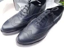 Lea Foscati bleu marine avec rivets, en Cuir à Lacets Chaussures UK 71/2 41EU Entièrement neuf dans sa boîte
