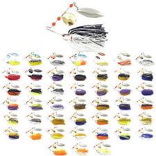 5PCS Fishing Spinnerbait spoon Lure Spinner Baits 14.5g Swim Bass Fly Jig Rubber