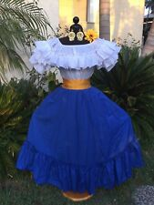 MEXICAN DRESS FIESTA,DAY OF THE DEAD,5 DE MAYO,WEDDING OFF SHOULDER 2PC W/ SASH