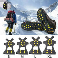 Ice Snow Shoes Covers Anti-Slip Grips Spikes Climbing Crampon Cleats Boot UTB