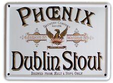 PHOENIX IRISH STOUT Small Vintage Metal Tin Pub Sign