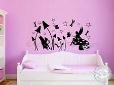 Fairy Butterfly Wall Stickers, Girls Bedroom Nursery Wall Art Decor Decals