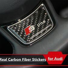 Sline Steering Wheel Carbon Fiber Style S Line 1x Sticker Badge Decals For Audi