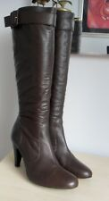 JONES BROWN LEATHER KNEE HIGH BOOTS SIZE 6 (39)