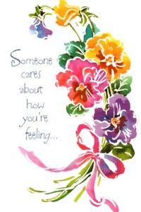Get Well Soon Pansy Pansies Flower Flowers Garden American Greeting Card