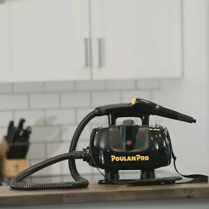 Poulan PRO Power Steam Cleaner 25 oz. Water Tank Portable Attachment 15-ft. Cord