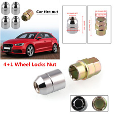 Universal 4+1 Strong Steel Wheel Locks Nut M12x1.5 Chrome Locking Lug Nuts Parts