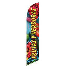 FRUTAS Y VERDURAS Spanish Swooper Feather Banner Flag - Advertising FLAG ONLY -
