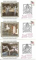 USA . United States Space Shuttle . Columbia . Interpex March 5, 1981. 3 covers