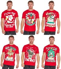 Adults Christmas Design Printed 100% Cotton T-Shirt Regular and Plus Sizes