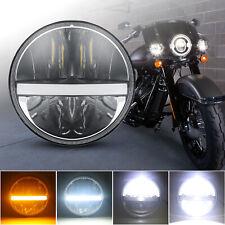 7'' Round Halo Angel Eyes LED Headlight for Jeep Wrangler JK TJ Motorcycle Bike