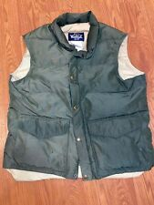 Vintage Woolrich Puffer Vest Mens Size L Down Filled Coat Jacket 70s Western