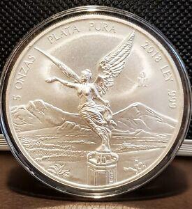 Libertad 2018 BU 5oz silver onza Mexico coin