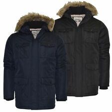 Brave Soul Polyester Long Hooded Coats & Jackets for Men