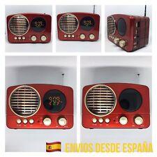 Radio Altavoz Vintage Mini Bluetooth Estilo Antiguo FM USB SD AUX MP3 Pantalla