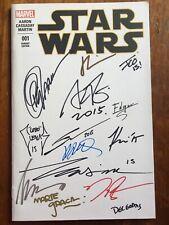 Star Wars 1 Blank SIGNED Capullo Artgerm Ramos Crain Plascencia Delgado Olazabal