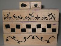 Stampin' Up! Rubber Stamp Partial Set Border Builders Checkerboard Light String