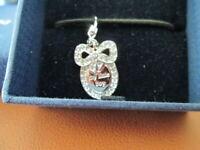 Swarovski Crystal $50 Blue Crystal MY LITTLE BOY Charm Necklace/Bracelet NIB
