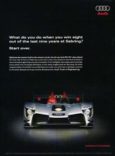 2009 Audi Sebring Race R15 TDI Original Advertisement Print Art Car Ad J952