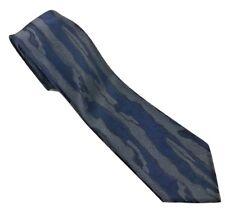 "Vintage Doneagle Necktie Silk Skinny Narrow Thin Charcoal Navy 2.5"" W x 59.75"" L"