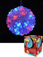 Kingfisher Multi Coloured LED Snow Ball Xmas Christmas Light Ornament Decoration