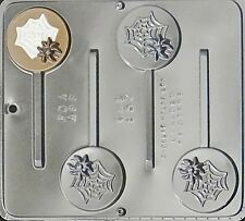 Spider Web Lollipop Chocolate Candy Mold Halloween  957 NEW