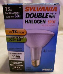 Save 2+ Sylvania Double Life Halogen Spot 1 Pack 75W//60W PAR30LN White 2850K