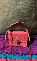 Coach Dusty Rose Mini Smooth Leather Credit Card Flap Turn Lock Hobo Crossbody