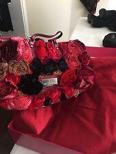Valentino Rosier Rosette Burgundy Leather handbag