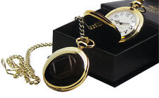 NA SYMBOL 24k Gold Plated Pocket Watch 12 STEP Narcotics Anonymous Recovery Gift