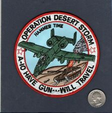 A-10 THUNDERBOLT Operation Desert Storm 1991 Have Gun USAF TFS Squadron Patch