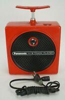 Vintage Panasonic 8 Track Player Model RQ-830S Red