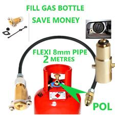 UK MINI M10 LPG Filling Point to Gas Propane Bottle 2 Meters FLEXI pipe